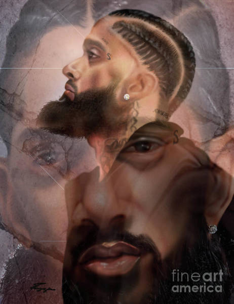 Painting - The Summation Nipsey Hussle by Reggie Duffie