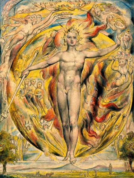 Wall Art - Painting - The Sun At His Eastern Gate -digital Remastered Edition by William Blake