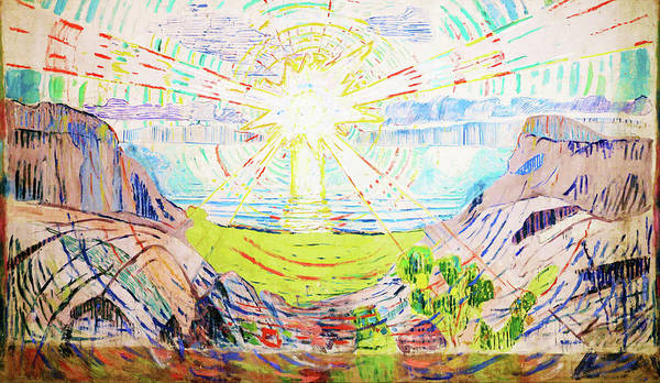 Wall Art - Painting - The Sun - Digital Remastered Edition by Edvard Munch