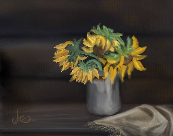 Painting - The Sun Flowers  by Fe Jones