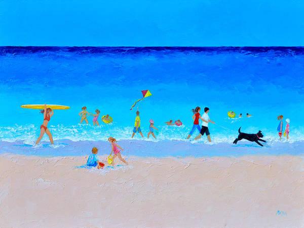 Wall Art - Painting - The Sunny Beach Parade by Jan Matson