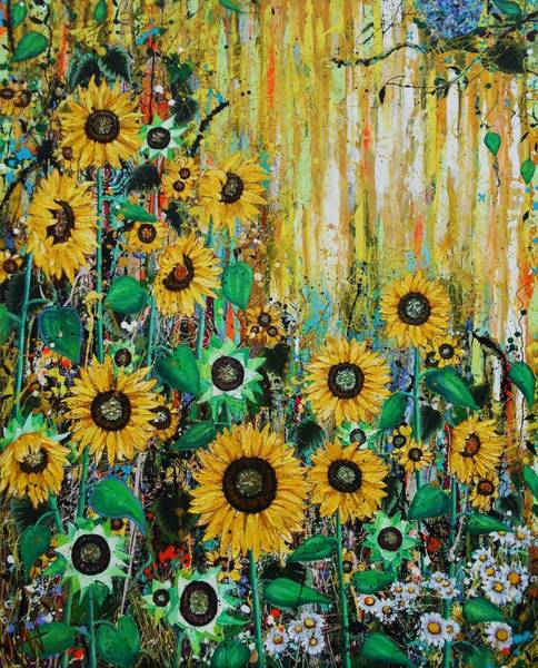 Wall Art - Painting - The Sunseekers  Large Painting by Angie Wright