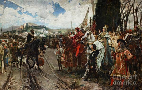 Sky Line Painting - The Surrender Of Granada by Francisco Pradilla y Ortiz