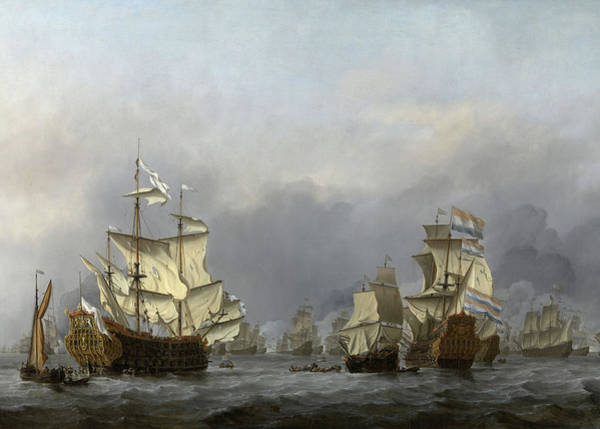 Surrendering Painting - The Surrender Of The Royal Prince, 1670 by Willem van de Velde