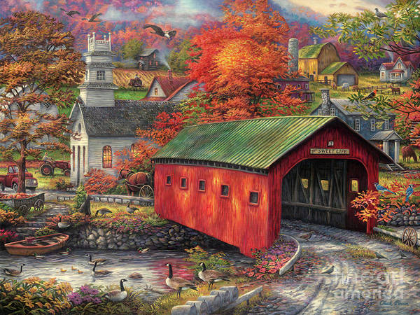 Church Painting - The Sweet Life by Chuck Pinson