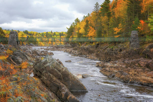 Photograph - The Swinging Bridge At Jay Cooke by Susan Rissi Tregoning