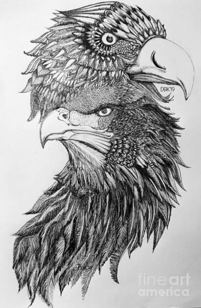 Wall Art - Drawing - The Symbol Of Strength And Unity by DeAndria Butler-Keyes