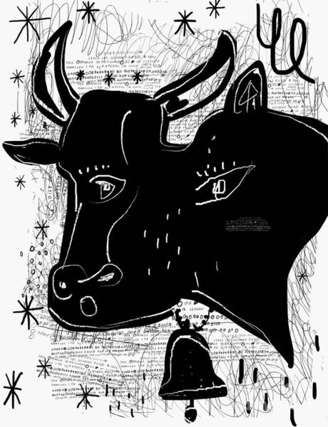 Wall Art - Digital Art - The Symbolic Image Of A Cow by Dmitriip