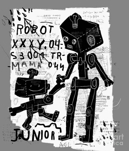 Wall Art - Digital Art - The Symbolic Image Of Robots Who Are by Dmitriip