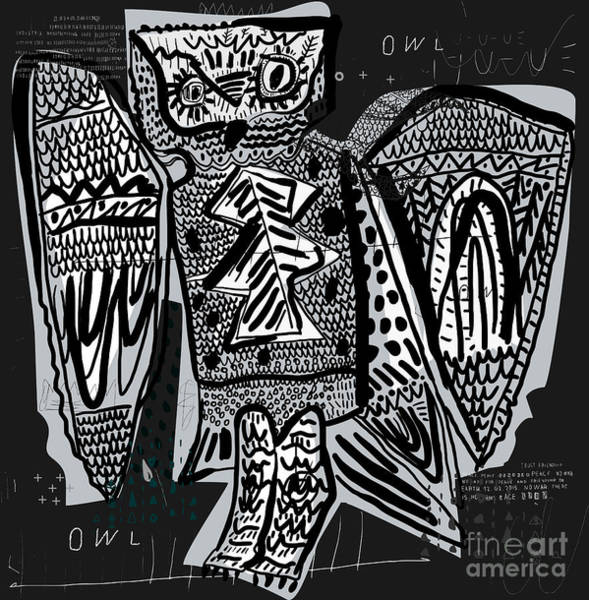 Rare Wall Art - Digital Art - The Symbolic Image Of The Owl, Which Is by Dmitriip