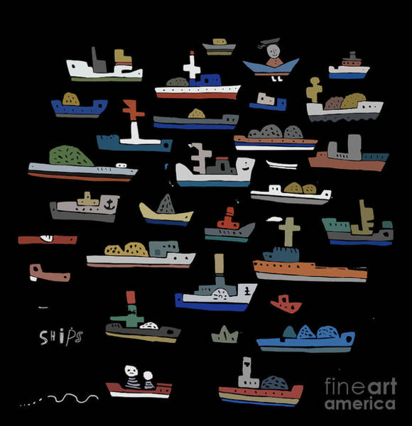 The Symbolic Image Of The Ships On A Art Print