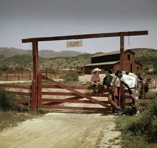 Wild Horse Photograph - The T-bar Ranch by Tom Kelley Archive