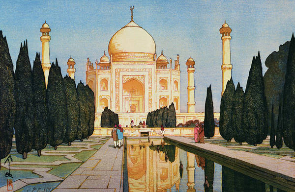 Believers Painting - The Taj Mahal Gardens - Digital Remastered Edition by Yoshida Hiroshi