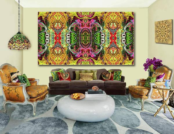 Wall Art - Digital Art - The Tapestry Bazaar --artwork In Situ by Grace Iradian