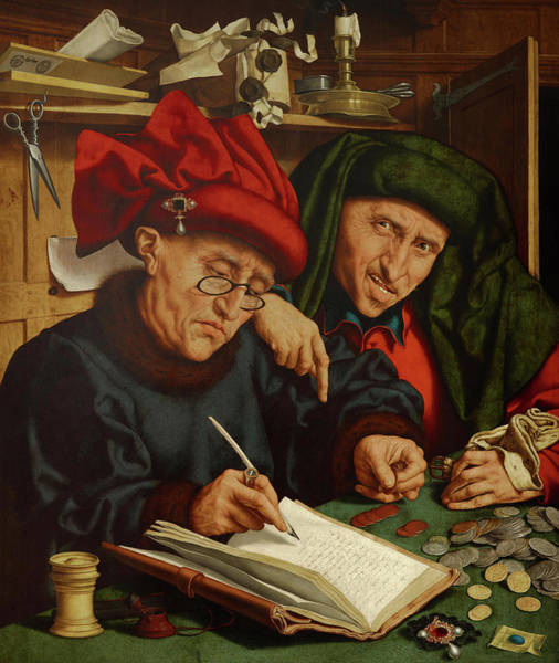 Wall Art - Painting - The Tax Collectors by Quentin Massys
