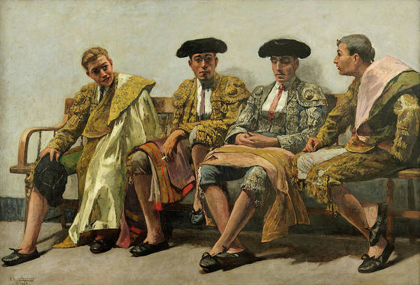 Wall Art - Painting - The Team, 1926 by Andres Parlade