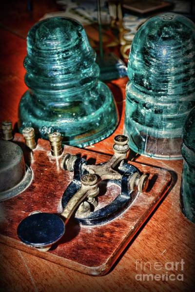 Wall Art - Photograph - The Telegraph And Glass Insulators  by Paul Ward