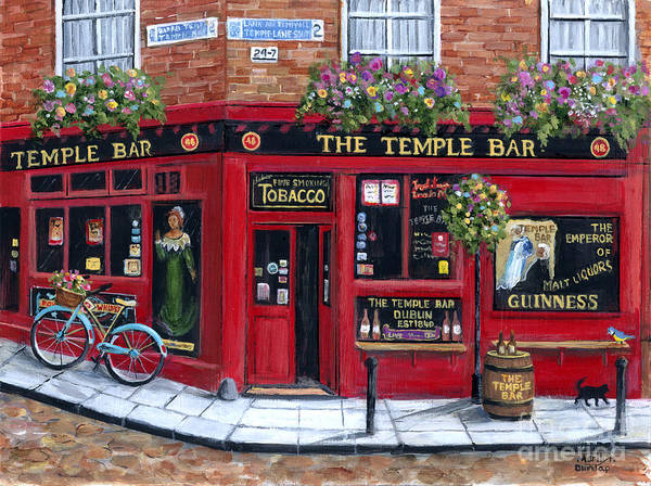 Tavern Painting - The Temple Bar by Marilyn Dunlap