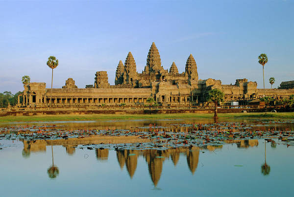 Hindu Photograph - The Temple Of Angkor Wat, Angkor, Siem by Gavin Hellier / Robertharding