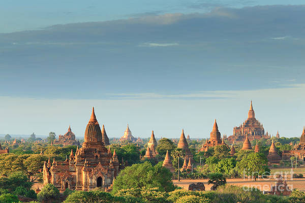 Myanmar Wall Art - Photograph - The Temples Of Bagan At Sunrise, Bagan by Lkunl