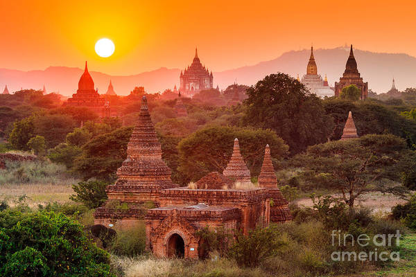 Myanmar Wall Art - Photograph - The  Temples Of Baganpagan, Mandalay by Lkunl