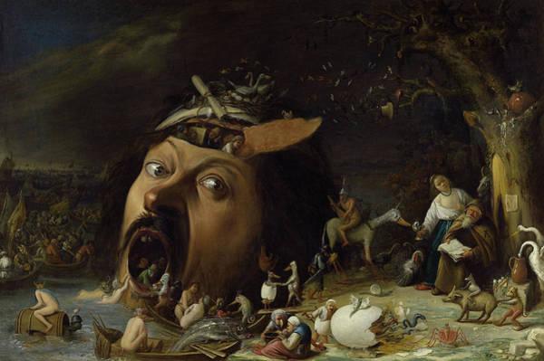 The Demon Wall Art - Painting - The Temptation Of Saint Anthony by Joos van Craesbeeck