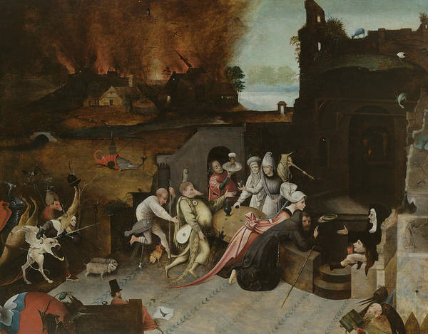 Painting - The Temptation Of St. Anthony The Hermit by Follower of Hieronymus Bosch
