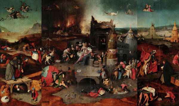 Wall Art - Painting - The Temptations Of St Anthony, 15th Century by Jheronymus Bosch