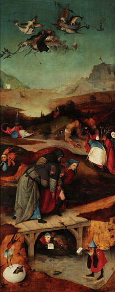 Wall Art - Painting - The Temptations Of St Anthony, Left Panel, 15th Century by Jheronymus Bosch