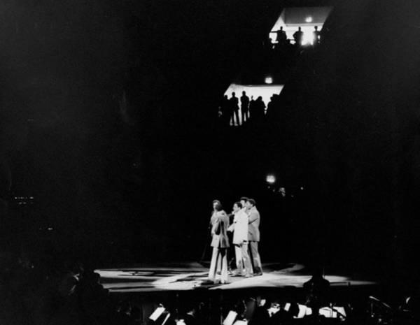 Madison Square Garden Photograph - The Temptations Performing At Madison by New York Daily News Archive