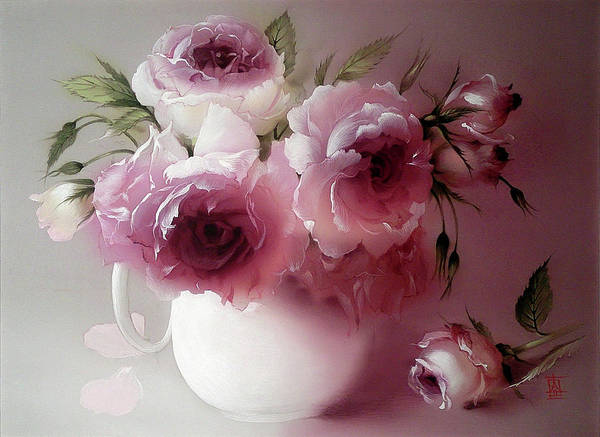 Painting - The Tender Fragrance Of Roses by Alina Oseeva
