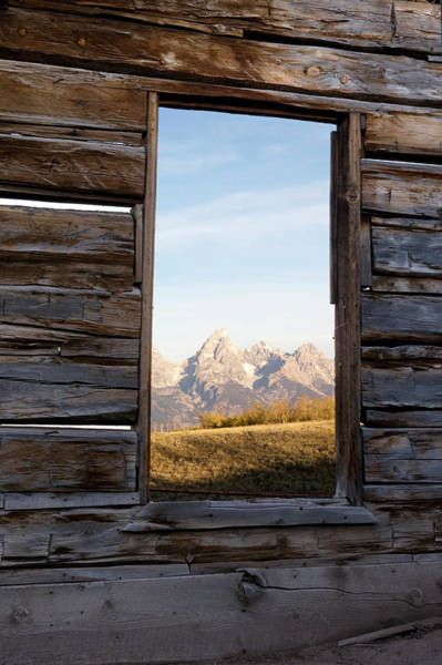 Wall Art - Photograph - The Teton Range Through Old Deserted by Douglas Steakley