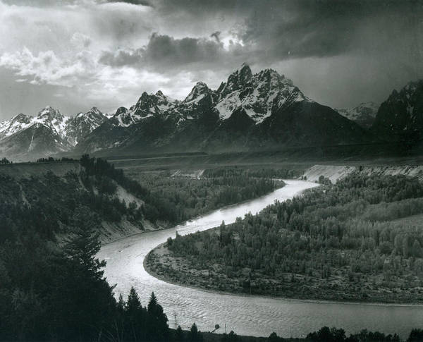 Horizontal Photograph - The Tetons - Snake River by Archive Photos