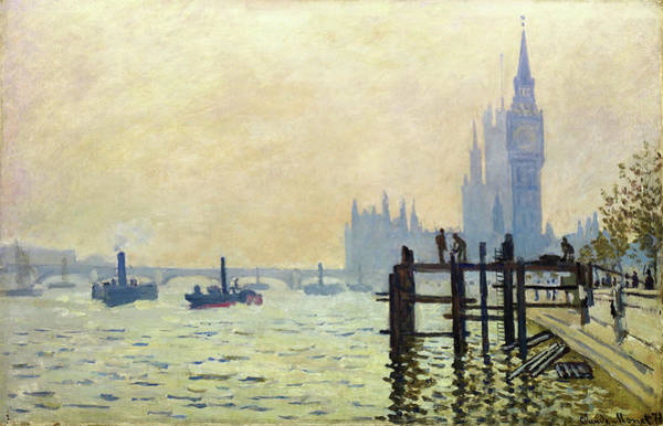 Wall Art - Painting - The Thames At Westminster - Digital Remastered Edition by Claude Monet