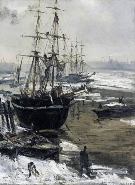 Wall Art - Painting - The Thames In Ice - Digital Remastered Edition by James McNeill Whistler