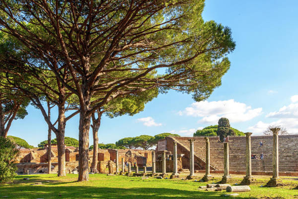 Wall Art - Photograph - The Theater At Ostia Antica by W Chris Fooshee