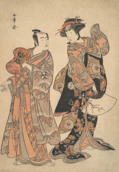 Relief - The Third Segawa Kikunojo As Ochiyo And Bando Mitsugoro As Hanbei by Katsukawa Shunsho