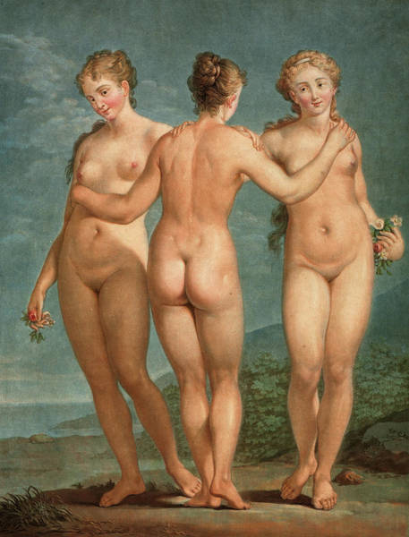 Wall Art - Painting - The Three Graces, 1786 by Jean Francois Janinet