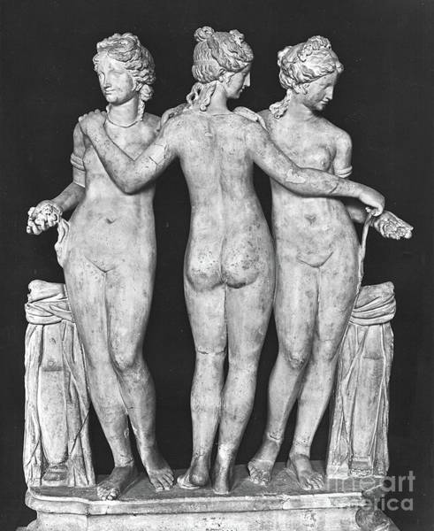 Wall Art - Photograph - The Three Graces, Copy Of A 2nd Century Bc Greek Original, Marble by Roman School