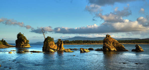 Photograph - The Three Graces, Tillamook Bay Oregon, Oregon Coast by TL Mair