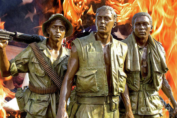 Photograph - The Three Servicemen Bronze Statue by Doc Braham