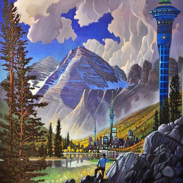 Painting - The Three Towers by Art West