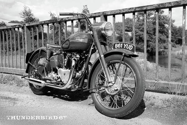 Wall Art - Photograph - The Thunderbird 6t Vintage Motorcycle by Mark Rogan