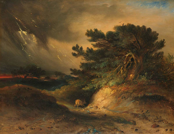 Painting - The Thunderstorm by Johannes Tavenraat