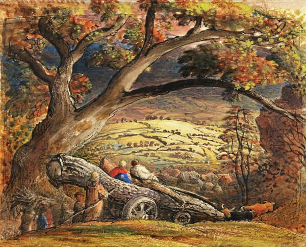 Wall Art - Painting - The Timber Wain - Digital Remastered Edition by Samuel Palmer