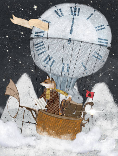 Wall Art - Painting - The Time Balloon by Bri Buckley