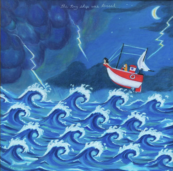 Painting - The Tiny Ship Was Tossed by Todd  Peterson