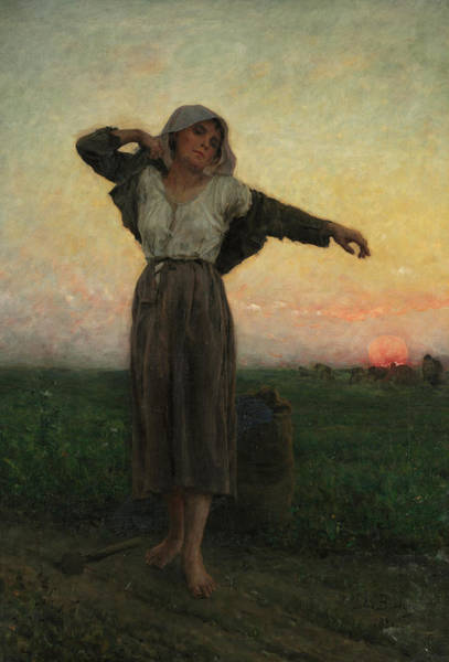 Wall Art - Painting - The Tired Gleaner, 1880 by Jules Breton
