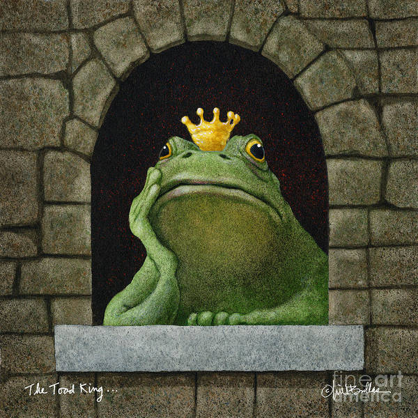 Wall Art - Painting - The Toad King by Will Bullas