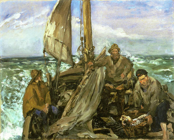 Wall Art - Painting - The Toilers Of The Sea - Digital Remastered Edition by Edouard Manet